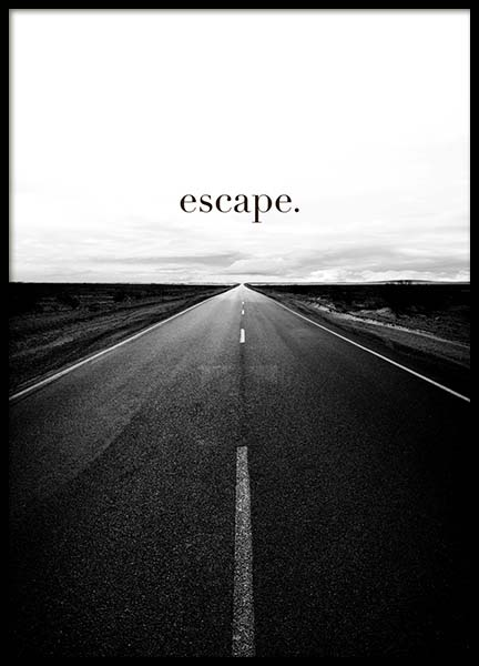 Road to Escape Poster in der Gruppe Poster / Typografie Poster bei Desenio AB (3877)
