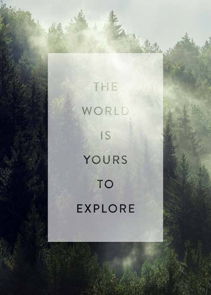 Yours To Explore Poster in der Gruppe Poster / Typografie Poster bei Desenio AB (3884)