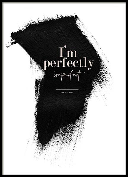 Perfectly Imperfect Poster in der Gruppe Poster / Typografie Poster bei Desenio AB (3938)