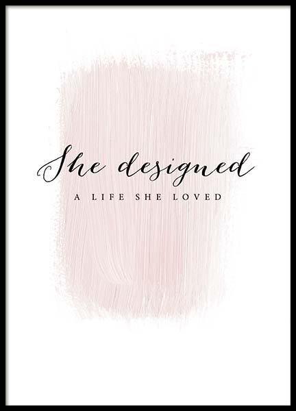 A Life She Loved Poster in der Gruppe Poster / Typografie Poster bei Desenio AB (3942)