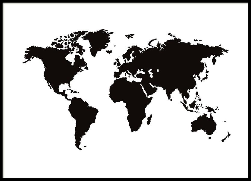 Poster Mit Weltkarte Desenio De