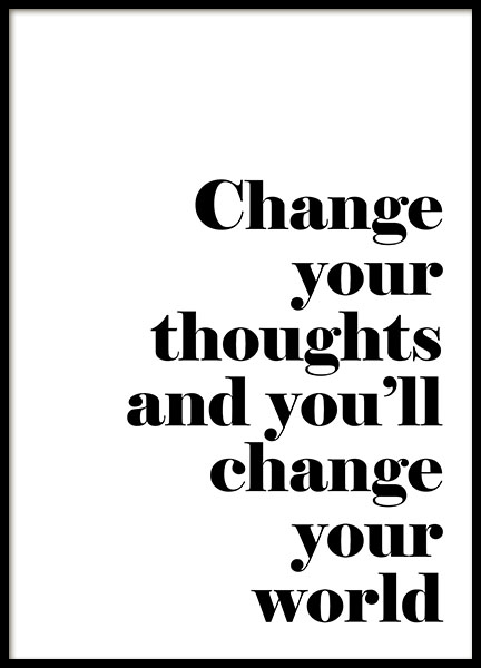 Change Your Thoughts, Poster