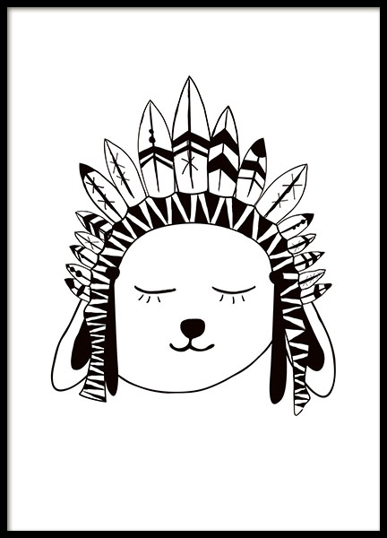 Rabbit Chief, Poster in der Gruppe Poster / Kinder bei Desenio AB (7871)
