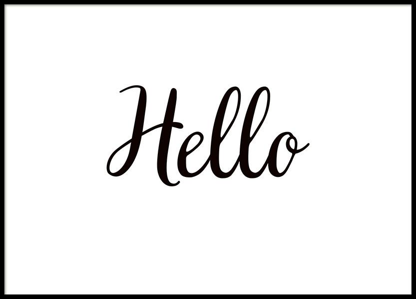 Hello, Poster