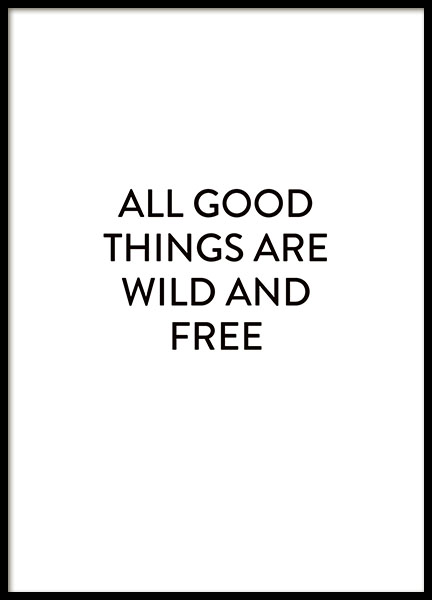 Wild And Free, Poster