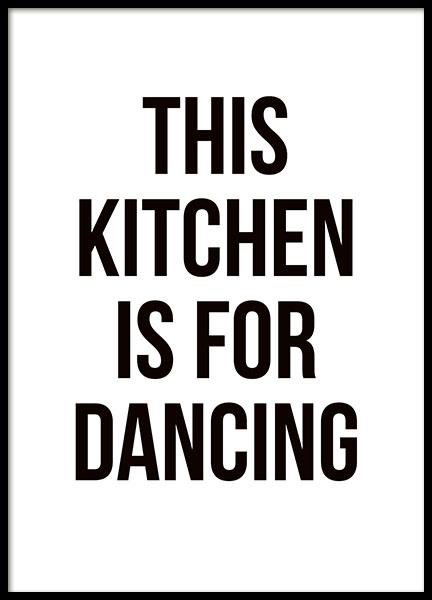 Kuchenposter Dancing Poster Mit Text Fur Die Kuche Desenio