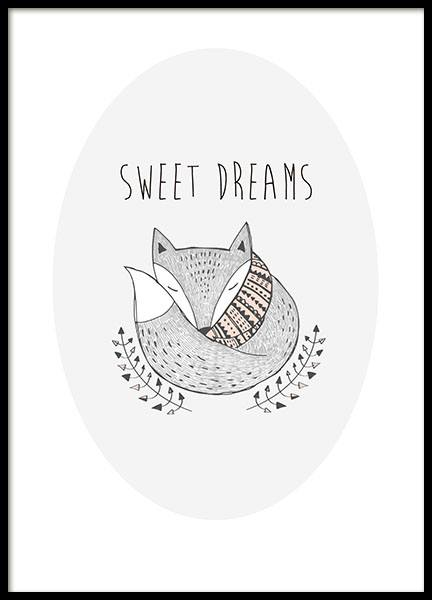 Sweet Dreams, Poster in der Gruppe Poster / Kinder bei Desenio AB (8554)
