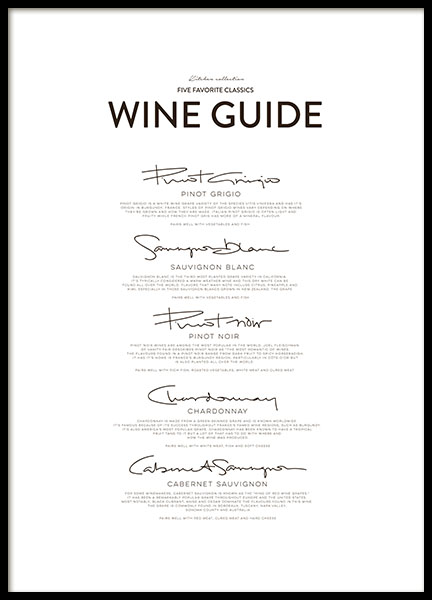 Five Wine Classics, Poster
