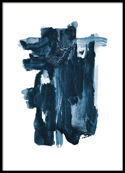 Indigo Blue Poster