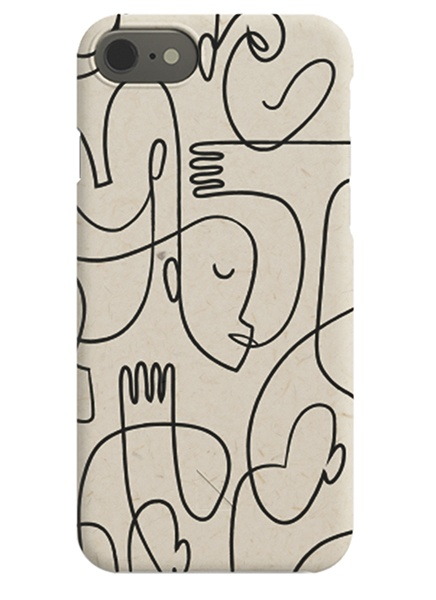 Abstract Faces iPhone Case in der Gruppe iPhone Hüllen / iPhone Xr bei Desenio AB (C-50157)
