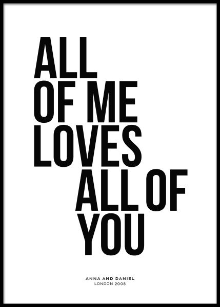 All of Me Personal Poster in der Gruppe Poster / Personalisierte Poster bei Desenio AB (pp0001)
