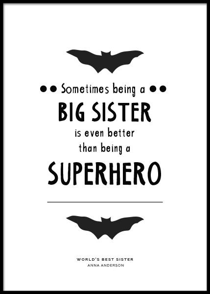 Big Sister Personal Poster in der Gruppe Poster / Personalisierte Poster bei Desenio AB (pp0004)