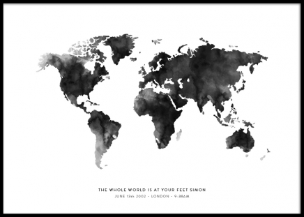 World Map Personal Poster in der Gruppe Poster / Personalisierte Poster bei Desenio AB (pp0026)