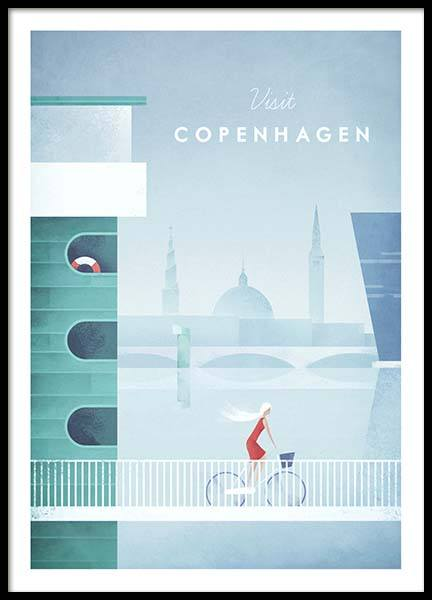 Copenhagen Travel Poster