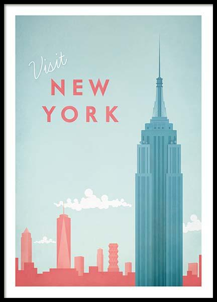 New York Travel Poster in der Gruppe Poster bei Desenio AB (pre0011)
