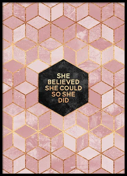 She Believed She Could 2 Poster