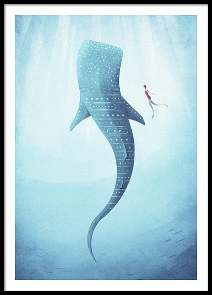 Whale Shark Poster in der Gruppe Poster bei Desenio AB (pre0040)