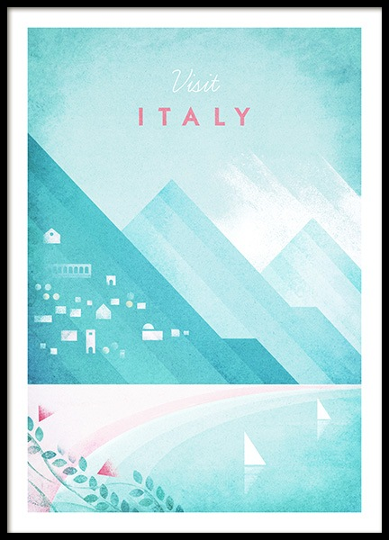 Visit Italy Poster in der Gruppe Poster / Handpicked / Henry Rivers bei Desenio AB (pre0042)