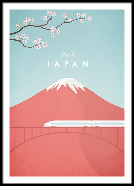 Visit Japan Poster in der Gruppe Poster / Handpicked / Henry Rivers bei Desenio AB (pre0049)