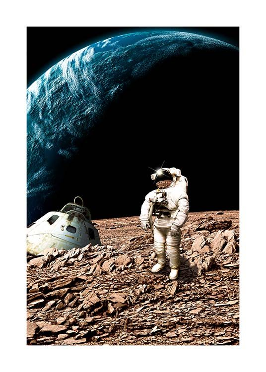 Astronaut On Moon Poster / Kinder bei Desenio AB (10117)