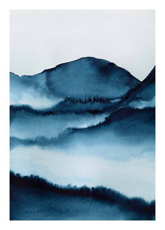 Watercolor Mountains Poster / Kunstdrucke bei Desenio AB (10124)