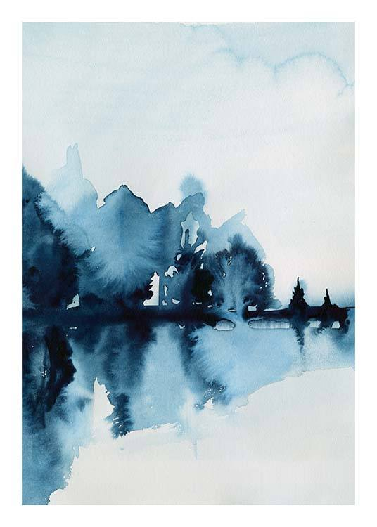 Watercolor Reflection Poster / Kunstdrucke bei Desenio AB (10125)