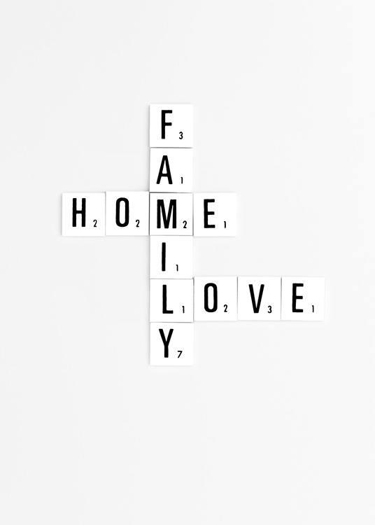Family Scrabble Poster