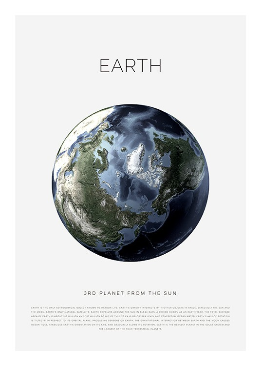 Planet Earth Poster / Kinder bei Desenio AB (11440)