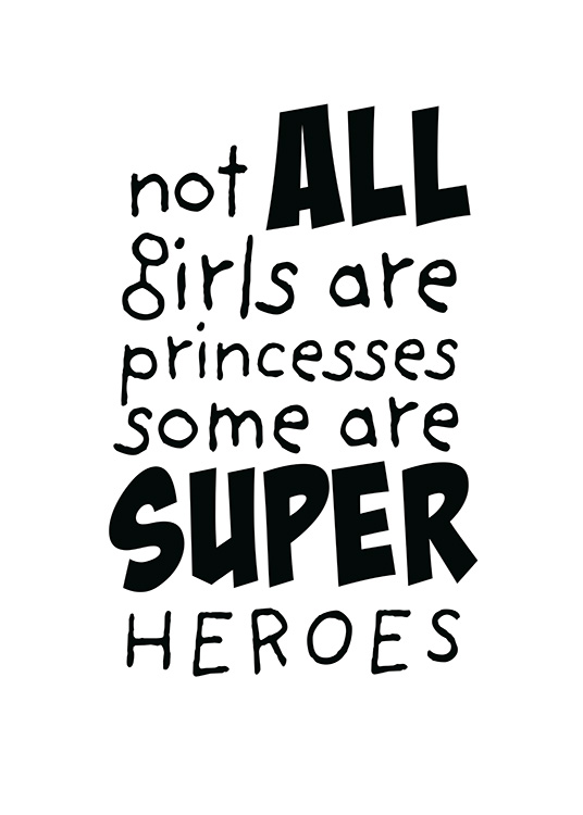 Girls are Superheroes Poster / Kinder bei Desenio AB (11905)