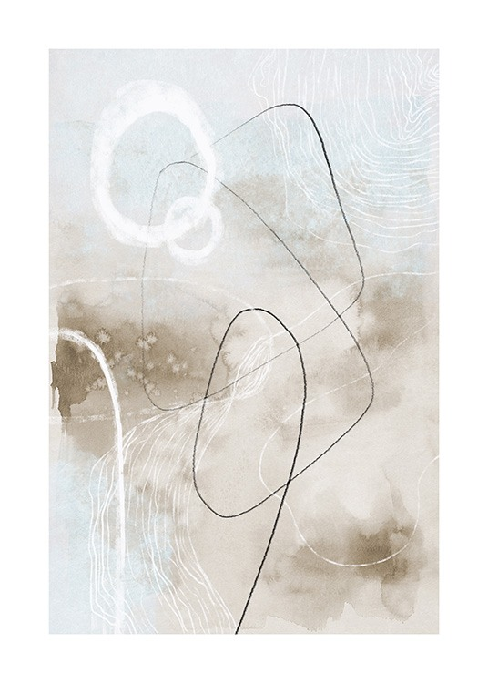 Soft Abstract Lines No2 Poster / Abstrakte Kunst bei Desenio AB (13676)