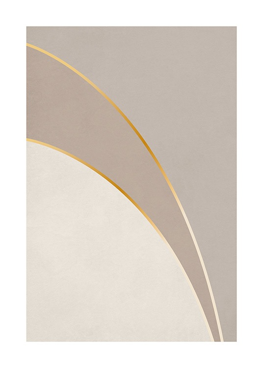 Graphic Golden Curves Poster / Grafische Kunst bei Desenio AB (13762)
