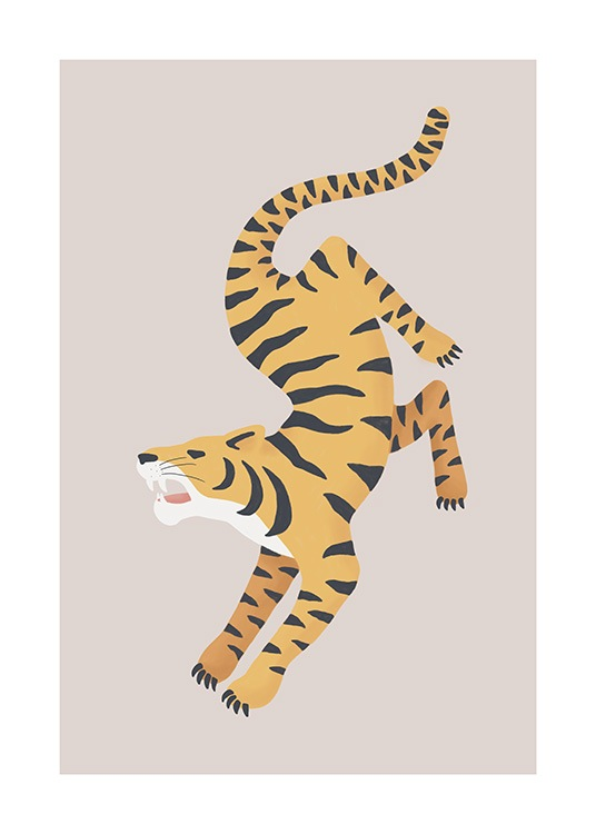 Turning Tiger Poster / Tiere bei Desenio AB (13782)
