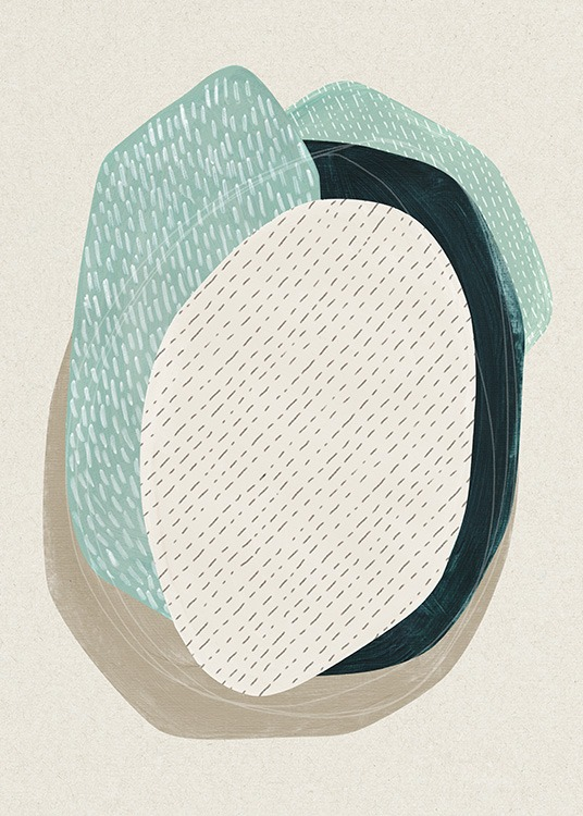 Oval Composition No1 Poster / Abstrakte Kunst bei Desenio AB (13845)