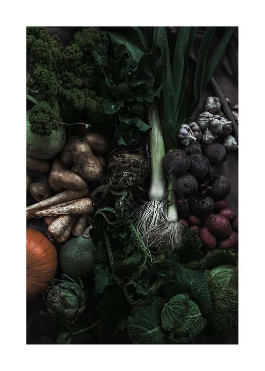 Mixed Vegetables Poster / Küchenposter bei Desenio AB (3491)