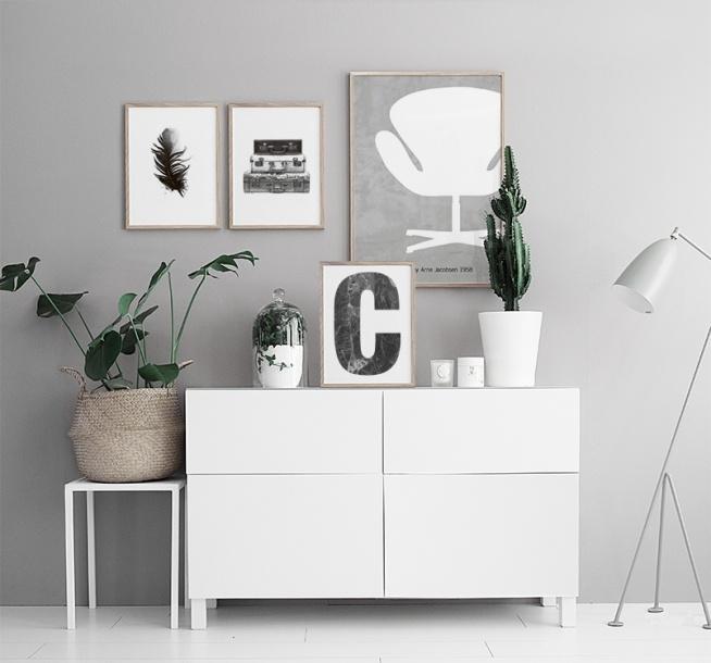 Modernes Poster Mit Designer Stuhl Swan Chair Poster