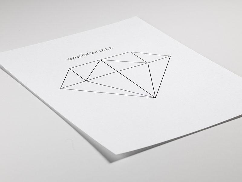 Diamantposter | Plakate und Poster mit Diamanten