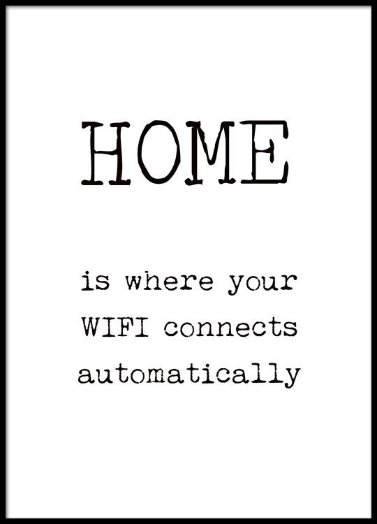poster f r das eigene zuhause lustige poster schwarz wei e typografie poster und poster mit text. Black Bedroom Furniture Sets. Home Design Ideas