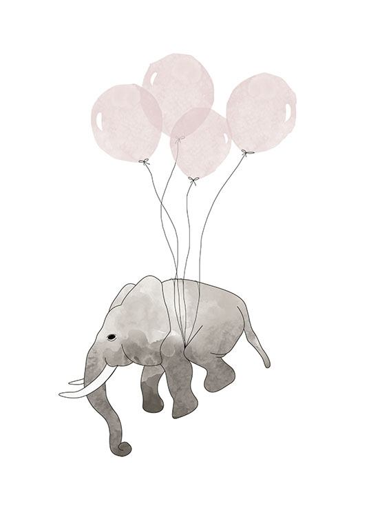 Elephant Pink, Poster / Kinder bei Desenio AB (7780)