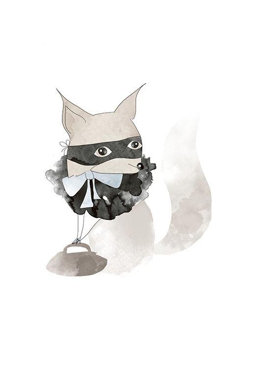Poster Mit Der Zeichnung Eines Fuchses Fur Das Kinderzimmer