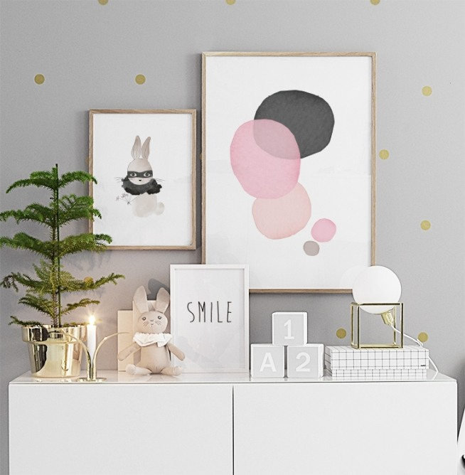 kinderposter mit kaninchen poster f r kinder poster. Black Bedroom Furniture Sets. Home Design Ideas