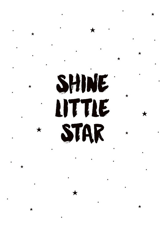 Shine Little Star, Poster / Kinder bei Desenio AB (7789)