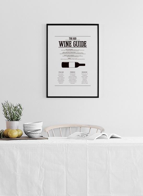Poster Für Küche poster wine guide küchenposter wein plakate und poster für die küche