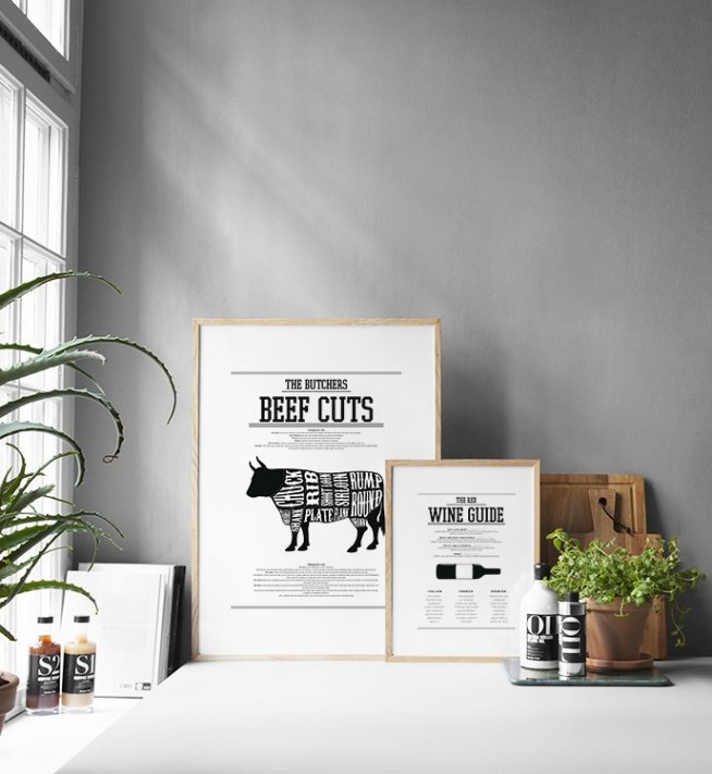 poster red wine guide k chenposter wein plakate und poster f r die k che. Black Bedroom Furniture Sets. Home Design Ideas