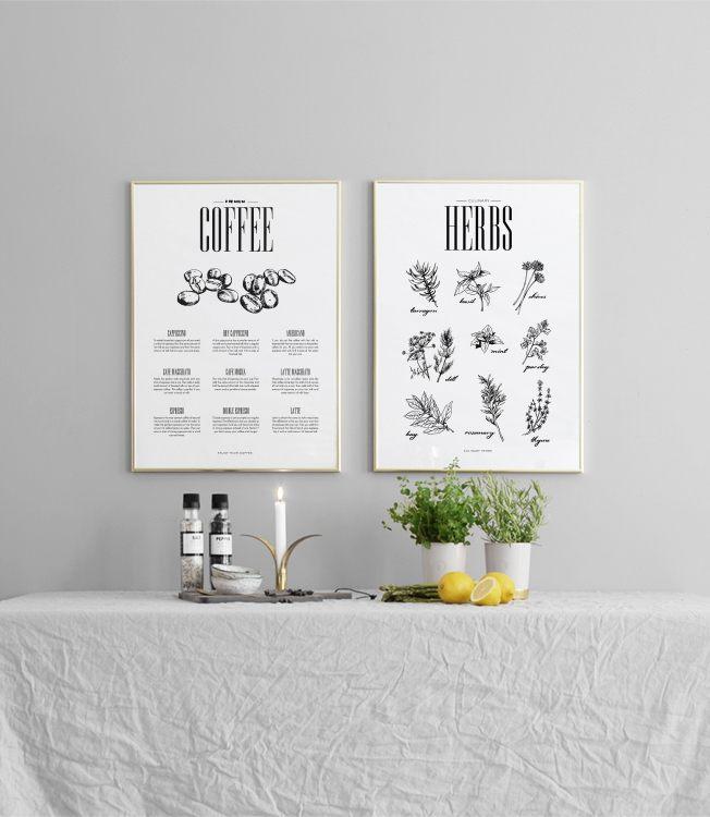 sch nes poster f r die k che k chenposter mit kr utern. Black Bedroom Furniture Sets. Home Design Ideas