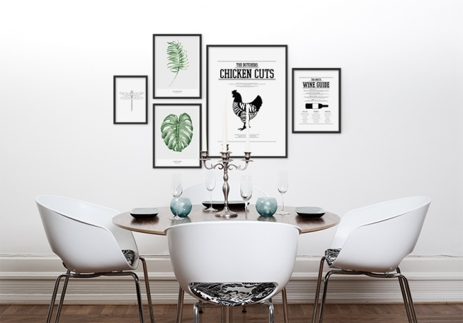 Schlafzimmer Inspiration Grun  Poster mit grünem Palmenblatt Botanik