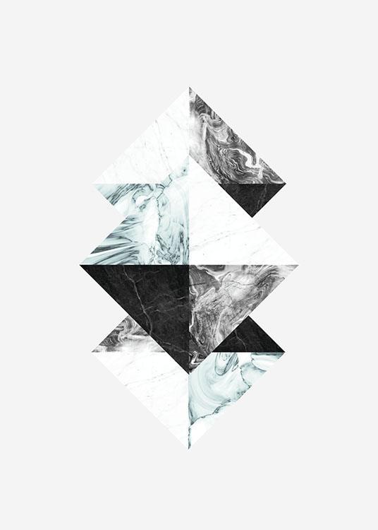 Graphic art poster mit dreiecken und marmor sch ne poster - Geometrische wandbilder ...