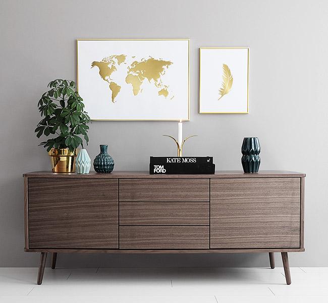 weltkarte poster poster mit gold einrichtung mit messing. Black Bedroom Furniture Sets. Home Design Ideas
