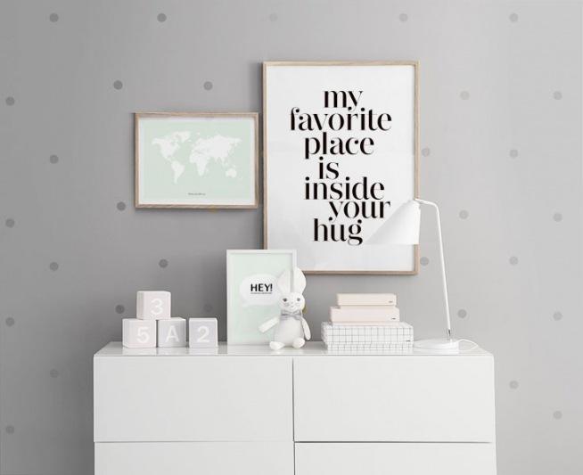 Schlafzimmer Inspiration Grun : Schlafzimmer Inspiration Grun  Grünes Poster mit Weltkarte Poster