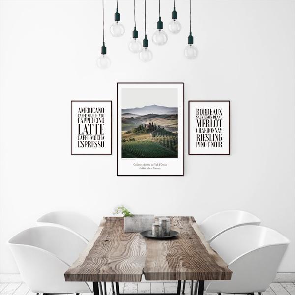 Moderne poster mit naturfotografien poster online - Poster cuisine moderne ...