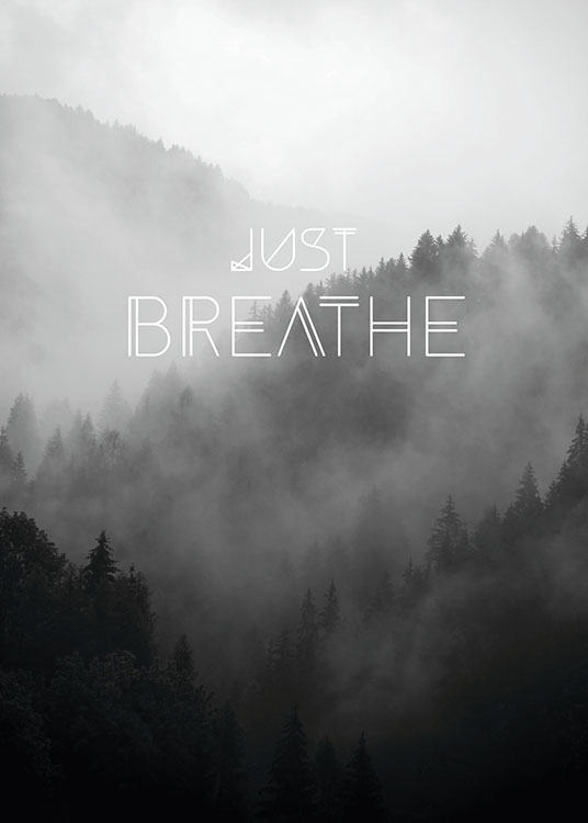Just Breathe, Poster / Naturmotive bei Desenio AB (8150)